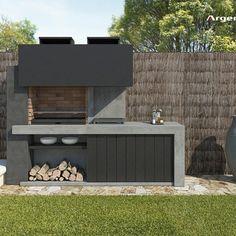 Barbacoas archivos - Argemi PrefabricatsArgemi Prefabricats Outdoor Barbeque Area, Outdoor Grill Station, Design Barbecue, Parrilla Exterior, Barbecue Garden, Outside Grill, Modern Outdoor Kitchen, Brick Bbq, Outdoor Sinks