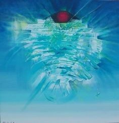 """"""" Cristal ocean """" olej , płótno 100 / 100 - Tomasz Jaxa Kwiatkowski ."""