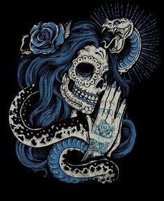 Snake & Sugar skull