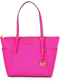 MICHAEL MICHAEL KORS East/West Top Zip Saffiano Leather Tote #Bag $248