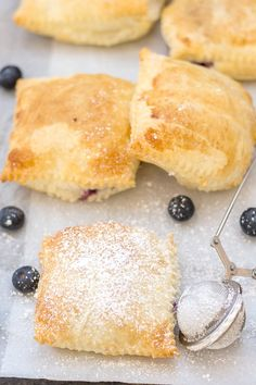 Easy Blueberry Cream Cheese Danish, is a quick and simple recipe. Puff Pastry squares filled with a simple cheesecake filling and fresh blueberries. The Perfect Breakfast, Snack or Dessert idea. #puffpastry #cheesecake #creamcheese #breakfast #dessert #snack #creamcheese