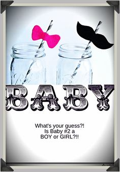 Hmmm, guessing game!!?!  A Boy or Girl?  Gender Party  Gender Announcement Party
