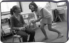 Bus Stop -Improv  This activity explores character development, verbal persuasion skills and craft improvisational dialogue.  It is safe for a teacher to use without any prerequisite knowledge.