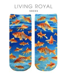 Goldfish Glitter Socks