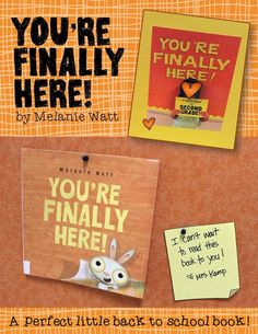 This is the cutest back to school book EVER! You're Finally Here by Melanie Watt is the perfect little book for lots of first week fun! Visit this post to see all the icebreakers, games, crafts and photo booth we did with this book during our first week of school! I even had a little teaser on my hall bulletin board for Meet the Teacher Night! (The book is available online from Indigo books and Amazon Canada)