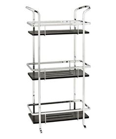Look what I found on #zulily! Black & Chrome Three-Tier Bamboo Spa Tower #zulilyfinds