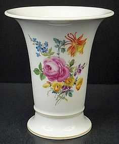 Vintage Meissen Trumpet Shaped Vase (item #1090830)