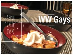 Nothing tastes better than a warm apple crisp, so we made a lower point option! Skinny Recipes, Ww Recipes, Ww Desserts, Dessert Recipes, Weight Watchers Diet, Honeycrisp Apples, Vanilla Syrup, Apple Crisp, Cupcake Cakes
