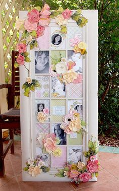 Frame by Nerrida Mitchell using both Summer & winter collection flowers.