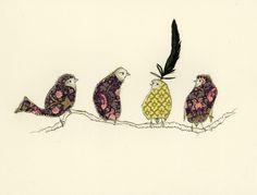 Fabric Animals, Mixed Media Textile Art, with thanks to Textile artist Anna Wright, Artist Study Resources for Art Students , CAPI ::: Create Art Portfolio Ideas at milliande.com , Art School Portfolio Works