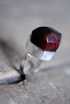 Renaissance Raw Garnet Ring