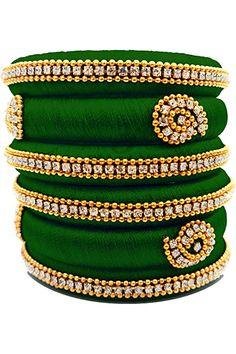 Silk Thread Bangles Design, Silk Thread Earrings, Fabric Earrings, Thread Jewellery, Diy Jewellery, Fashion Jewellery, Jewelery, Kundan Bangles, Silk Bangles