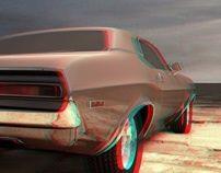 Anaglyph car red-cyan 3d Design, Car, Automobile, Autos, Cars