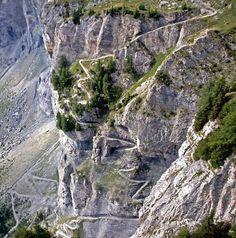 Andi Prumatt, Lee Lau, Sharon Bader at JeizinenSonnenberger-in-Wallis-Switzerland---Sept- in Leukerbad, Switzerland - photo by leelau - Pinkbike Bike Trails, Hiking Trails, Zion National Park, National Parks, Dangerous Roads, Beautiful Roads, Motorcycle Travel, Switzerland, Travel Inspiration