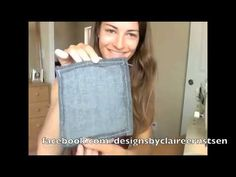 DIY how to make a cute shoulder bag or purse from old jeans - sewing tutorial youtube video