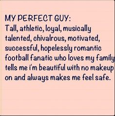 My perfect guy but a hockey fanatic