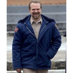 This Hoodie is a version thought of TV-series hoodie. David Harbour Played a role of Jim Hopper. Its functions are: made from Satin fabric, Blue in color, Open hem cuffs. It will provide you with a bewitching appearance to the watchers. David Harbour Stranger Things, Hopper Stranger Things, Stranger Things Season 3, Cast Stranger Things, Stranger Things Netflix, Stranger Things Halloween Costume, Stranger Things Characters, Life Lyrics, Wattpad