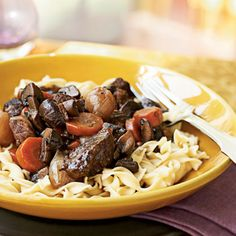 Beef Braised with Red Wine and Mushrooms by Cooking Light