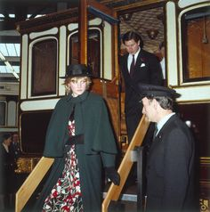 The Prince and Princess of Wales during a visit to the National Railway Museum in York
