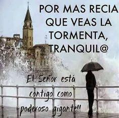 Por mas recia  que veas la tormenta .... El señor está  contigo como poderoso gigante<3