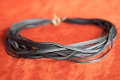 Strand Bike Tube Necklace  Loose van TruePartnersInCraft op Etsy