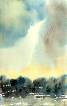 IN THE COUNTRY Watercolour by Paul Taylor
