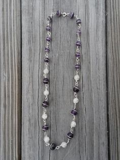 Moonstone and Amethyst Silver Wire Wrapped Necklace - https://www.etsy.com/listing/222381443/silver-wire-wrapped-moonstone-and