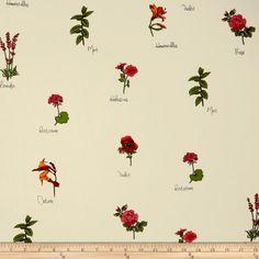 Telio Picasso Rayon Poplin Floral Ivory