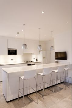 Kitchen with White Color Scheme
