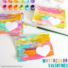 Watercolor valentines