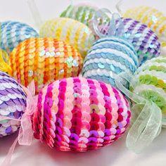 inkspired musings: Easter Egg Time Easter Egg Crafts, Easter Eggs, Sequin Ornaments, Sequin Crafts, Easter Stickers, Easter Egg Designs, Diy Ostern, Quilling Designs, Egg Decorating