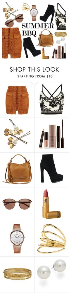 """""""SUMMER BBQ"""" by stereocristiana on Polyvore featuring WithChic, Laura Mercier, Urban Expressions, Casadei, Witchery, Lipstick Queen, Gorjana and AK Anne Klein"""