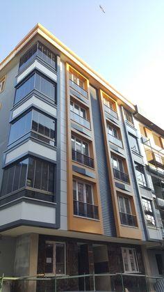 Kompozit cephe  imalatimiz Office Building Architecture, Building Facade, Building Design, Interior Architecture, Front Elevation Designs, Building Elevation, Exterior Design, Exterior Colors, Modern House Design