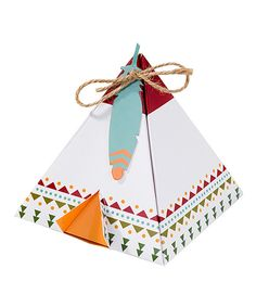 Look at this Pow Wow Party Tee Pee Treat Boxes & Tags - Set of 12 on #zulily today!