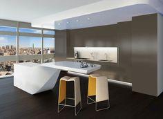 Super Modern Kitchen Island.