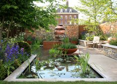Chelsea Flower Show The Silent Pool Gin Garden – The Frustrated Gardener Green Garden, Garden Art, Garden Pavillion, Chelsea Flower Show 2018, Water Features, Gin, Patio, Landscape, Outdoor Decor