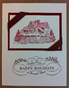 Easy Christmas card, Cherry Cobbler, Very Vanilla, Dazzling Details.
