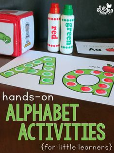 Would you like a fun and playful way to teach kids the alphabet? Learning the Alphabet helps kids learn their letters and letter sounds through hands-on activities that are perfect for little learners or even reluctant learners. 4 Year Old Activities, Fine Motor Activities For Kids, Toddler Learning Activities, Phonics Activities, Preschool Lessons, Alphabet Activities, Language Activities, Fun Learning, Hands On Learning