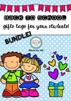 Back to School Gift Tags for Students!Give out on the first day of school, you can add a small give or just give them these colorful gift tags! This is the big bundle! Included are 10 different themed gift tags. You will never have to think of a start of year present again!
