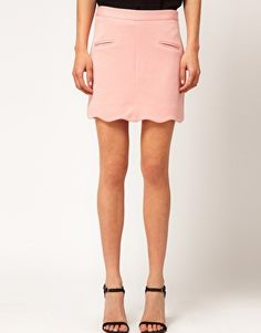 ASOS Ponti Mini Skirt With Scallop Hem Online Shopping Clothes 1989c6cc9