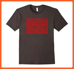 Mens Who Needs a Superhero / Finance Director T-Shirt (Red) Small Asphalt - Superheroes shirts (*Partner-Link)