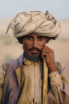 Farmer, Baluchistan, - PAKISTAN - Photograph by Steve McCurry. #photography #color