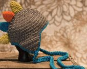 Dino Hat and Diaper Cover by quirkybitsnpieces on Etsy $30.00
