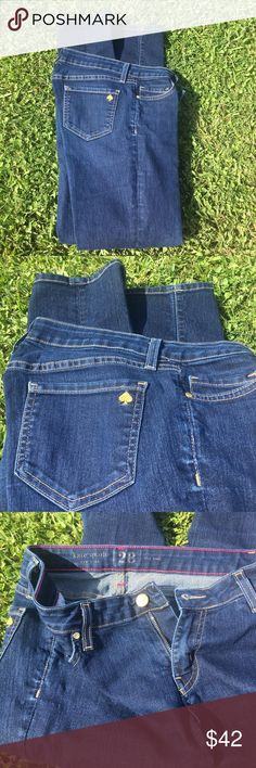 KATE SPADE STRAIGHT LEG JEANS Dark denim Kate spade straight leg jeans. In excellent like new condition. No flaws. kate spade Jeans Straight Leg
