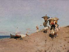 luigi di giovanni pittore - Pescatori di Sferracavallo- 1892- Palermo GAM