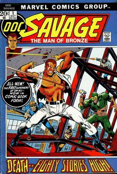 Doc Savage #1, october 1972, cover by John Buscema.