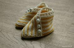 These are knitted, but I'm using them for inspiration for a pair of slippers for myself