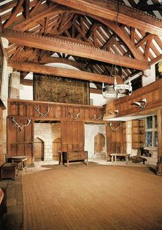 The banquet hall in Haddon Hall (Obrazek JPEG, pikseli) - Skala Medieval Houses, Medieval World, Medieval Castle, Medieval Banquet, Storybook Homes, Castles In England, Barn Renovation, Natural Homes, Fantasy Places