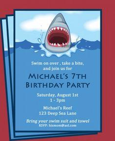 Shark invitation shark party invitation shark birthday invitation shark invitation printable boys pool party invitation filmwisefo