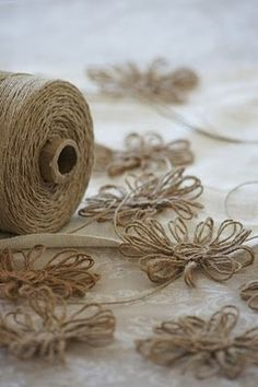 twine flowers - super easy, and super cute! addictive...they had me at twine